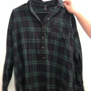 Forever 21 graphic flannel